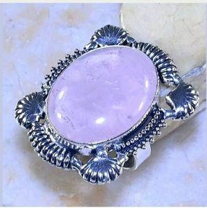 Rose Quartz Handmade .925 Ring 11